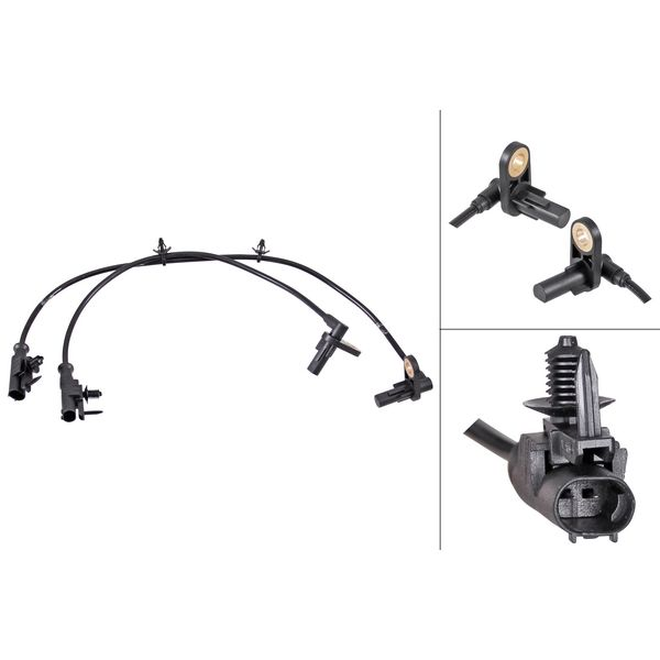 ABS-sensor achterzijde, links of rechts INFINITI G Sedan 25