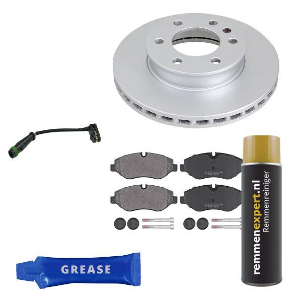 Voordeelpakket remschijven & remblokken voorzijde MERCEDES-BENZ SPRINTER 3-t Open laadbak/ Chassis (906) 211 CDI