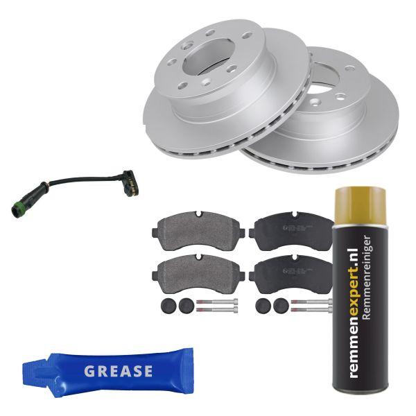 Voordeelpakket remschijven & remblokken voorzijde MERCEDES-BENZ SPRINTER 4,6-t Open laadbak/ Chassis (906) 411 CDI