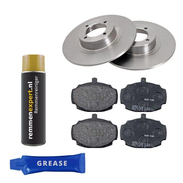 Voordeelpakket remschijven & remblokken voorzijde MG MGB Cabriolet 1.8