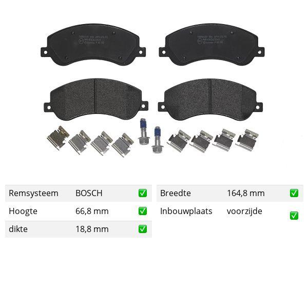 Remblokkenset voorzijde Brembo premium VW VOLKSWAGEN AMAROK (2HA, 2HB, S1B, S6B, S7A, S7B) 3.0 TDI
