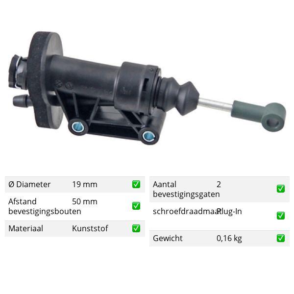 Koppelingcilinder -pedaal voorzijde VW VOLKSWAGEN AMAROK (2HA, 2HB, S1B, S6B, S7A, S7B) 3.0 TDI 4motion