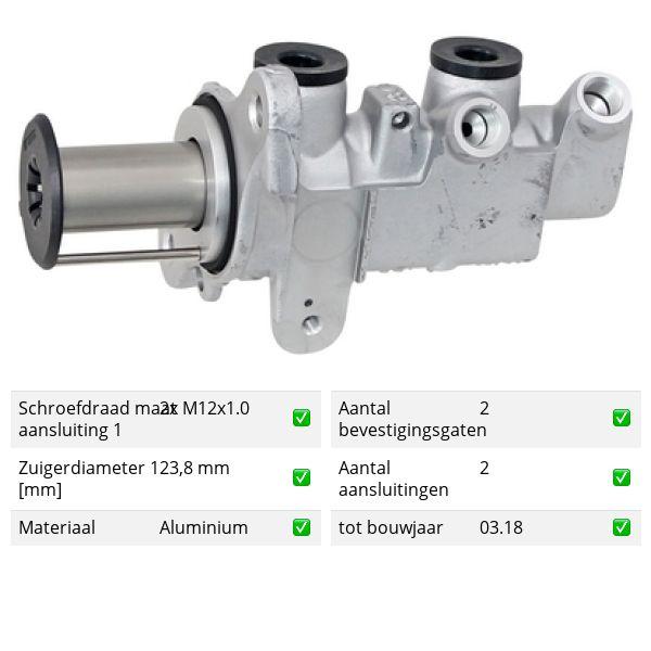 Hoofdremcilinder voorzijde VW VOLKSWAGEN ARTEON (3H7) 1.5 TSi
