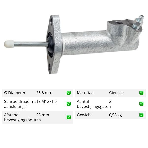 Koppelingcilinder - bak voorzijde VW VOLKSWAGEN QUANTUM 2.0 Álcool