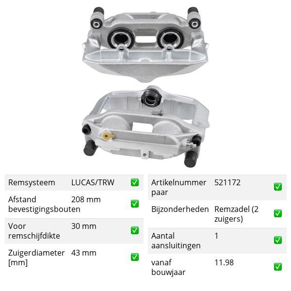 Remklauw voorzijde, links VW VOLKSWAGEN PASSAT (3B3) 2.8