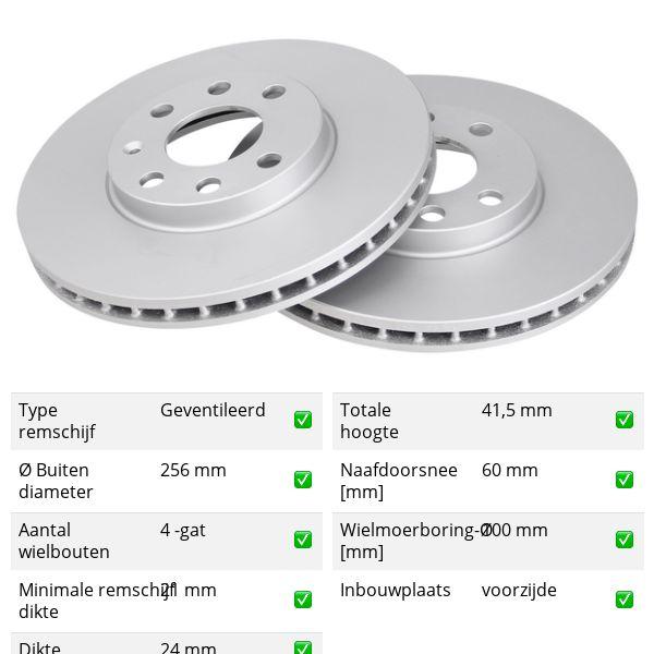 Remschijven voorzijde originele kwaliteit OPEL ASTRA G Hatchback 1.6 16V